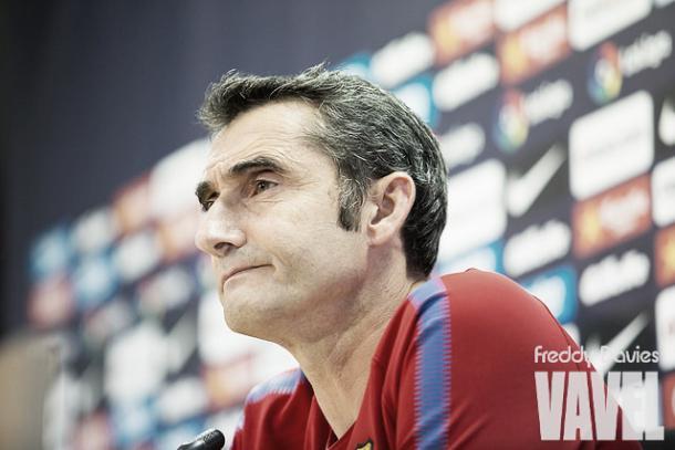 Valverde en rueda de prensa | Foto: Freddie Davies