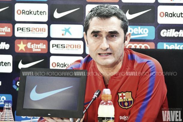 Valverde en rueda de prensa | Foto: VAVEL