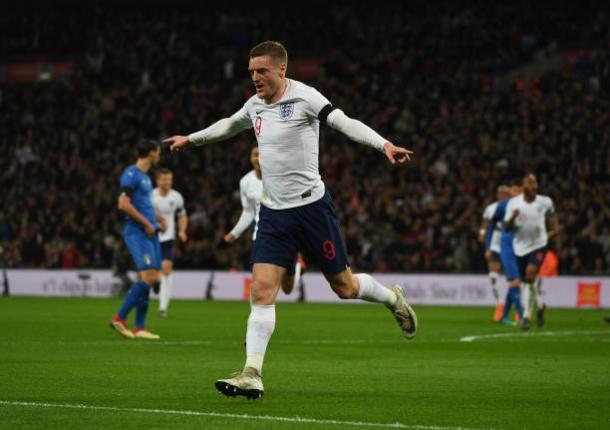 Vardy tem sido o principal substituto de Kane na seleção (Foto: Claudio Villa/ Getty Images)