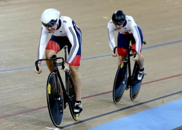 Varnish and Katy Marchant failed to qualify for the women's team sprint / The Mirror