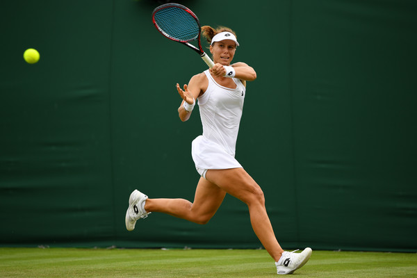 Varvara Lepchenko in action at the All England Lawn Tennis and Croquet Club | Photo: Shaun Botterill/Getty Images Europe