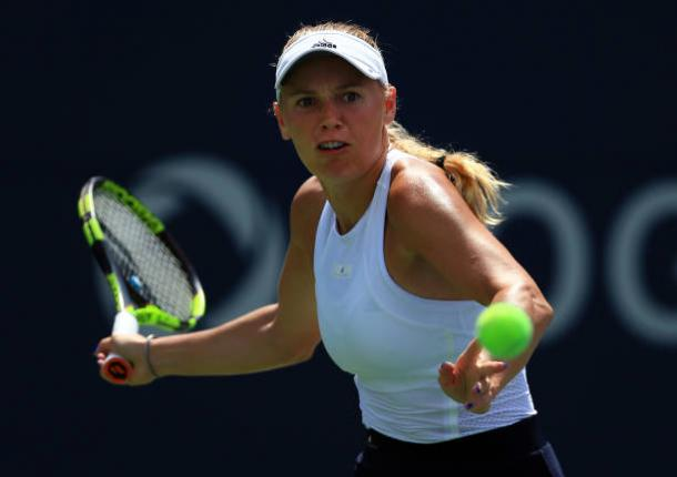 Wozniacki during the Rogers Cup final (Getty/Vaughn Ridley)