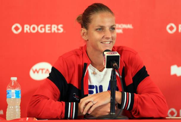 Karolina Pliskova at the Rogers Cup this week (Getty/Vaughn Ridley)