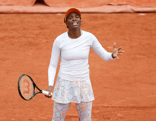 Venus Williams shows her frustration during her fourth round loss. Photo: Mustafa Yalcin/Anadolu Agency/Getty Images