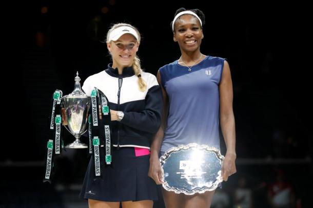Wozniacki y Venus en la final del Masters | Foto: Zimbio