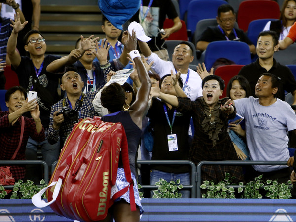 Venus Williams is a popular figure here in Wuhan | Photo: Kevin Lee/Getty Images AsiaPac