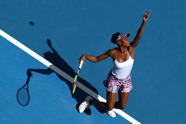 Venus Williams put up a clinical serving display today | Photo: Clive Brunskill/Getty Images AsiaPac