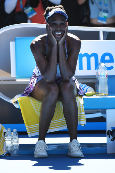Venus Williams definitely feels happy about her win today | Photo: Quinn Rooney/Getty Images AsiaPac