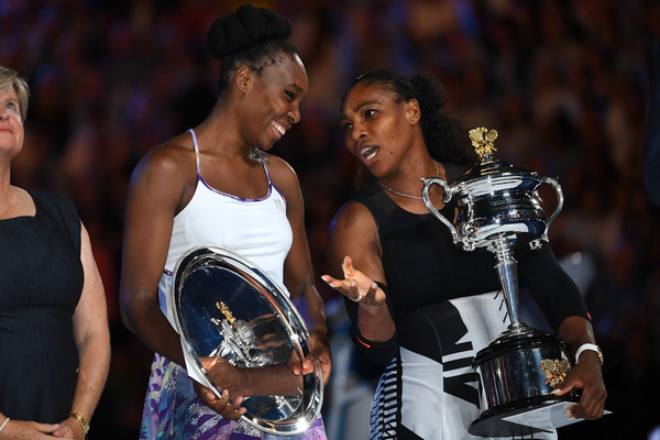 Some family talks? Venus and Serena looked deep in their conversation during the prize ceremony   Photo: Quinn Rooney/Getty Images AsiaPac