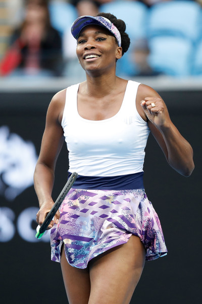 Venus Williams celebrates after defeating Duan Ying-Ying in the third round of the 2017 Australian Open. | Photo: Jack Thomas/Getty Images