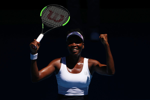 Venus Williams was visibly pleased with her win today | Photo: Cameron Spencer/Getty Images AsiaPac