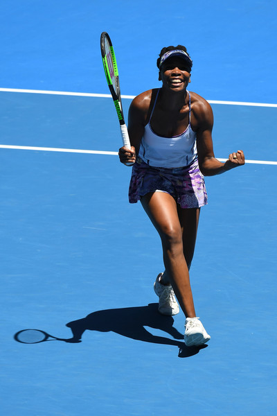 Venus Williams celebrates her win | Photo: Quinn Rooney/Getty Images AsiaPac