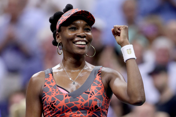 Venus Williams celebrates her run to the semifinals of the US Open | Photo: Matthew Stockman/Getty Images North America