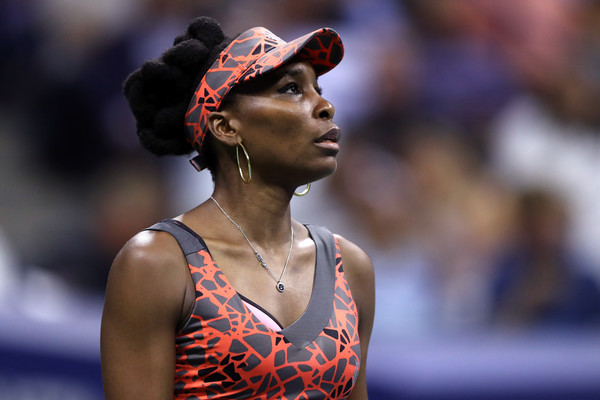 Venus Williams looks on during the short 10-minute break | Photo: Steven Ryan/Getty Images North America