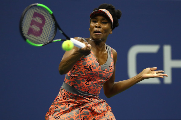 Venus Williams in action during the match | Photo: Al Bello/Getty Images North America