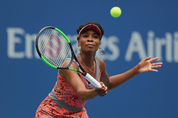 Venus Williams in action during her first round match | Photo: Richard Heathcote/Getty Images North America
