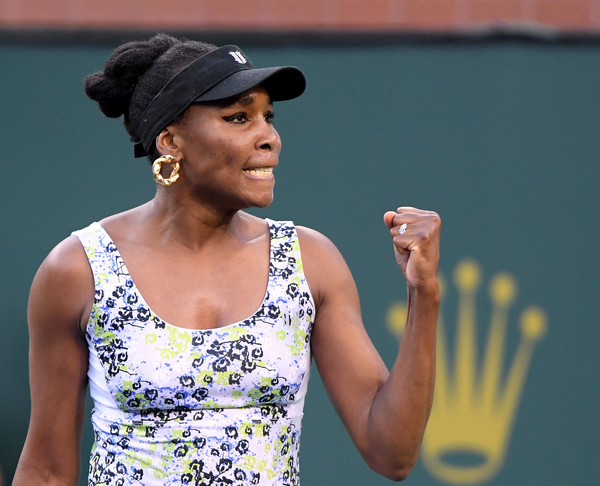 Venus Williams celebrate the straightforward victory | Photo: Harry How/Getty Images North America