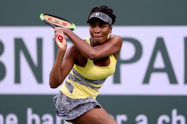 Venus Williams carried an injury into the BNP Paribas Open but still managed to reach the quarterfinals | Photo: Matthew Stockman/Getty Images North America