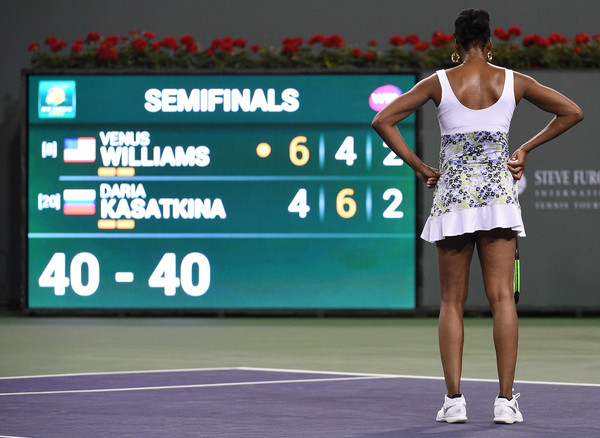 Venus Williams failed to convert her chances in the marathon game, and it ultimately proved costly | Photo: Kevork Djansezian/Getty Images North America