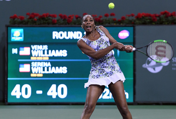Venus Williams is continuing to defy her age, reaching the fourth round in Indian Wells as a 37-year-old | Photo: Kevork Djansezian/Getty Images North America