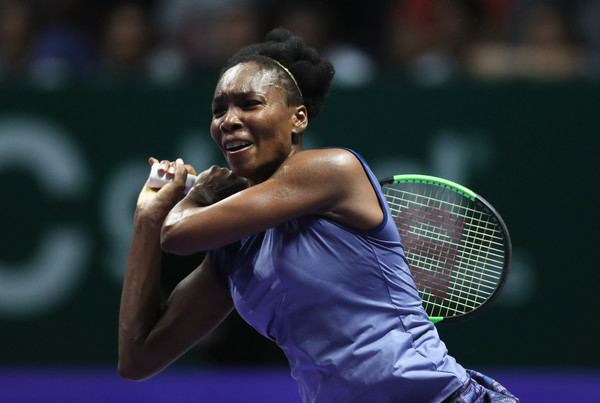 Venus Williams in action against Jelena Ostapenko, and she had to battle for 193 minutes to get the win | Photo: Matthew Stockman/Getty Images AsiaPac