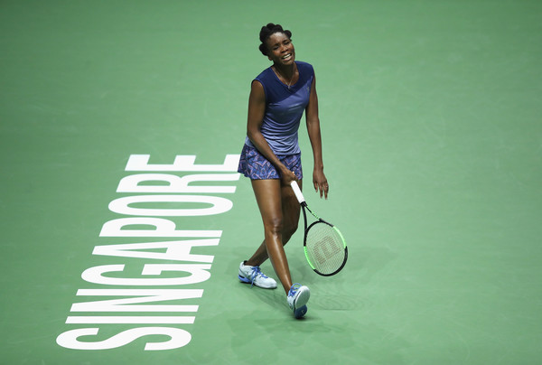 Venus Williams was frustrated with herself on many occasions today, most particularly in the final set | Photo: Julian Finney/Getty Images AsiaPac