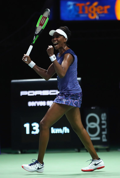 Venus Williams showed her emotional side after clinching the win | Photo: Clive Brunskill/Getty Images AsiaPac