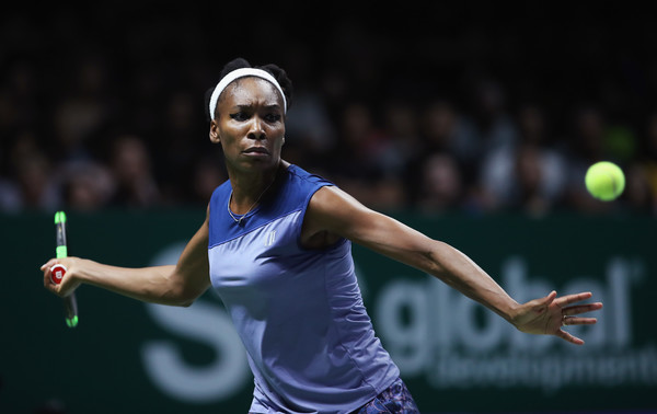 Venus Williams in action at the WTA Finals, where she was the eventual runner-up | Photo: Julian Finney/Getty Images AsiaPac