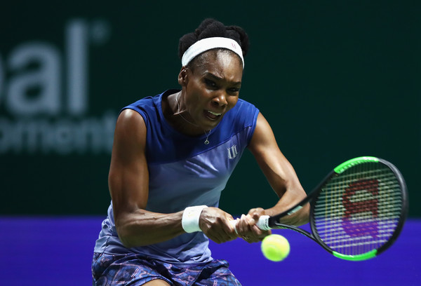 Venus Williams in action during the 2017 WTA Finals | Photo: Clive Brunskill/Getty Images AsiaPac