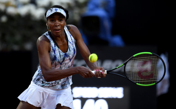 Off the court, Venus plays a role as a fashion master as well. A picture of the American wearing her self-designed EleVen tennis dress in Rome | Photo: Gareth Copley/Getty Images Europe