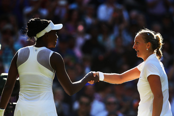 Two of the game's most respected players: Petra Kvitova and Venus Williams would face off in the quarterfinals | Photo: Al Bello/Getty Images Europe
