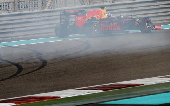 Verstappen rodou na primeira curva, mas ainda assim foi o terceiro (Foto: Mark Thompson/Getty Images)