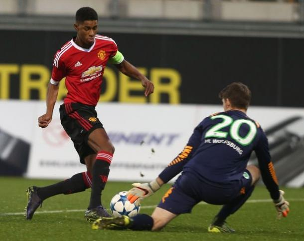 Marcus Rashford en un partido de la UEFA Youth League | Foto: Mirror