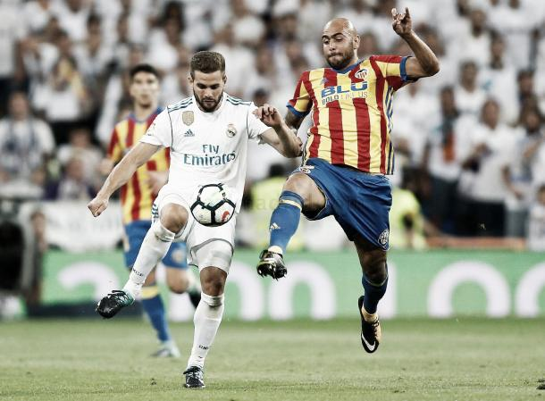 Nacho también sufrió con el italiano | Foto: Víctor Carretero (Real Madrid C.F.)