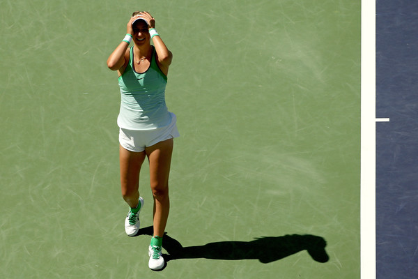Victoria Azarenka celebrates her triumph in Indian Wells two years back   Photo: Matthew Stockman/Getty Images North America