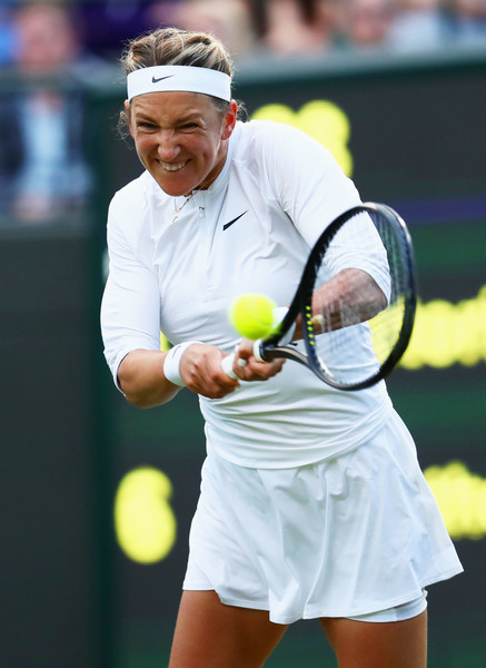 Victoria Azarenka hits a backhand | Photo: Michael Steele/Getty Images Europe