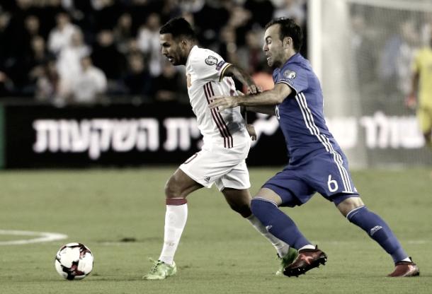Jonathan Viera en el encuentro que enfrentó a España contra Israel