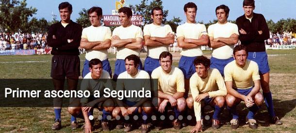 Equipo del Villarreal que consiguió el ascenso a Segunda en 1970. Fuente: villarrealcf.es