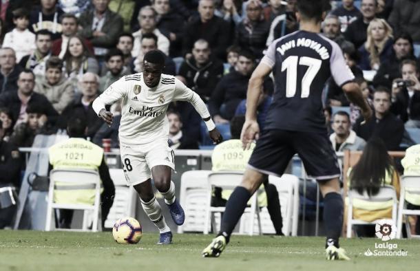 Vinicius el día que marcó su primer gol en Liga | Foto: La Liga