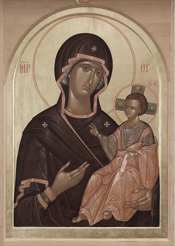 Virgen Hodigitria, Monasterio de San Gregorio de Sinaí. Fotografía de: flickr.com