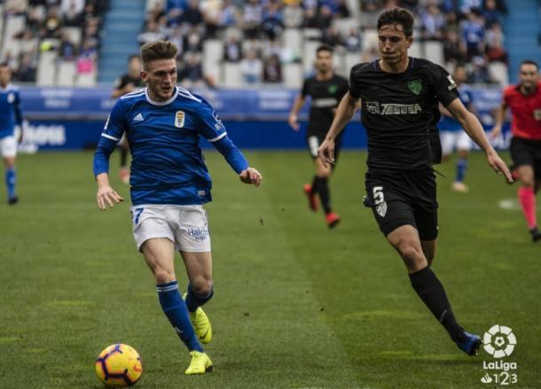 Viti hizo uno de sus mejores partidos ante el Málaga | Imagen: LaLiga 1|2|3
