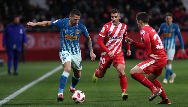 Vitolo estuvo muy activo en los veinte minutos que jugó. Foto: Web oficial del Club Atlético de Madrid