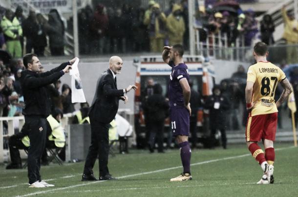 Brasileiro Vitor Hugo marcou em primeira partida da Fiorentina sem Astori (Foto: Divulgação/ACF Fiorentina)