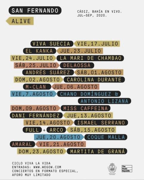 Cartel San Fernando Alive // fuente: Viva la vida (instagram)