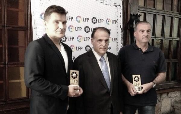 'Vlado' Gudelj recibió el premio a mejor delegado de Primera en 2013 / Fuente: RC Celta