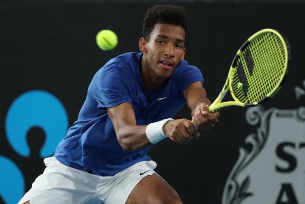 Auger-Aliassime roared through his quarterfinal match/Photo: Paul Kane/Getty Images