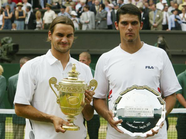 Federer e Philippoussis. Fonte: Corriere.it