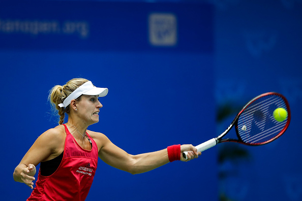 Kerber started brightly but was eventually overpowered by her opponent (Getty/Wang He)
