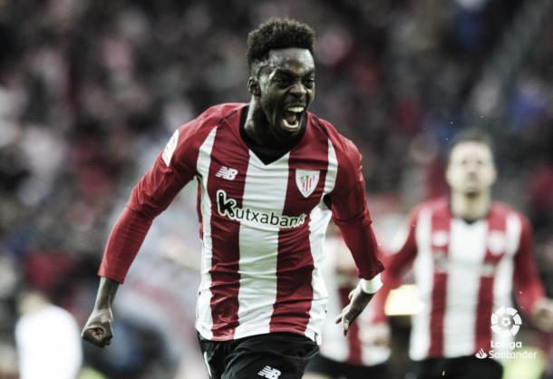 Williams tras marcar su primer gol ante el Sevilla | Foto: La Liga
