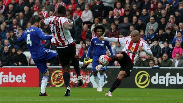 Khazri scores his stunner.   Image source: Sunderland AFC